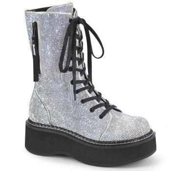 Platform Boots EMILY-362 - Silver