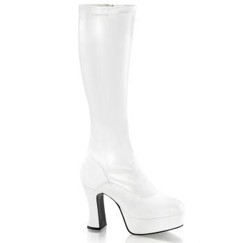Platform Boots EXOTICA-2000 - White matt