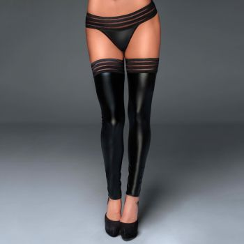 Wet Look Stockings F158