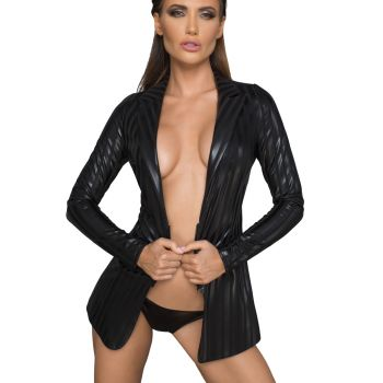 Power Wet Look Jacket F209 with Stripes-Design