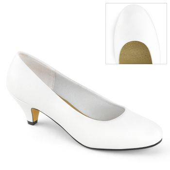 Pumps FEFE-01 - Faux Leather White