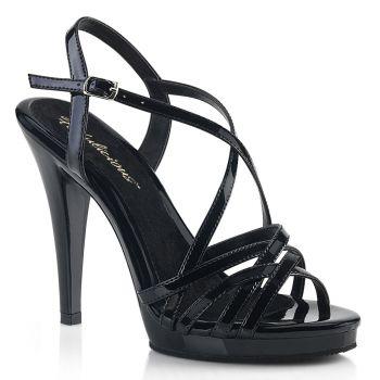High-Heeled Sandal FLAIR-413 - Patent Black