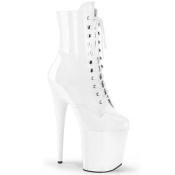 Extreme Platform Heels  FLAMINGO-1020 - Patent White