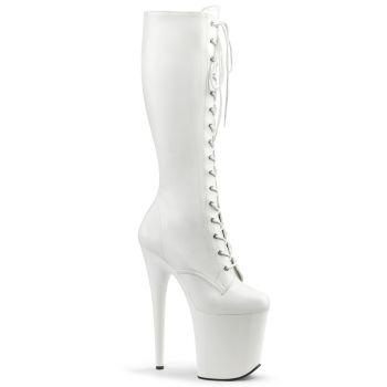 Extreme Platform Heels FLAMINGO-2023 - PU White