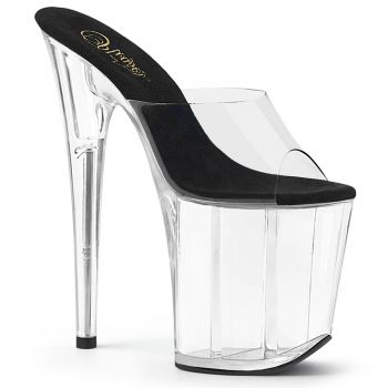 Extreme Platform Heels FLAMINGO-801 - Black/Clear