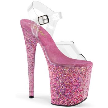 Extreme Platform Heels FLAMINGO-808CF - Pink Confetti
