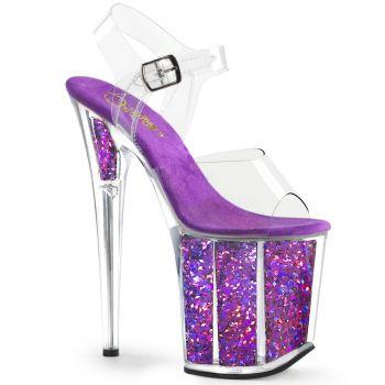 810ab20e1d8b Extreme Platform High Heel FLAMINGO-808LG - Purple, Pleaser