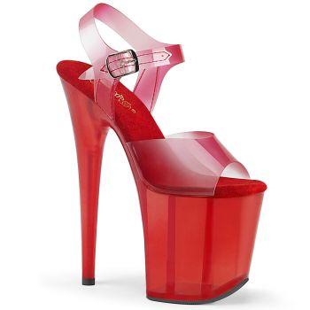 Extreme Platform Heels FLAMINGO-808N-T - Red