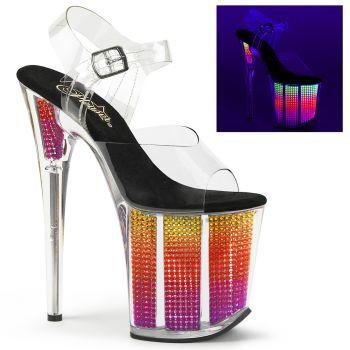 Platform High Heels FLAMINGO-808SRS - Neon Multi