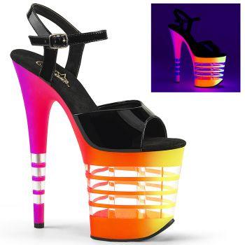 Extreme Platform Heels FLAMINGO-808UVLN - Neon Multicolor*