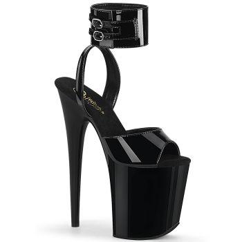Extreme Platform Heels FLAMINGO-891 - Patent Black