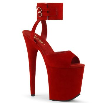 Extreme Platform Heels FLAMINGO-891 - Faux Suede Red*