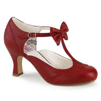 Kitten Heels FLAPPER-11 - Red