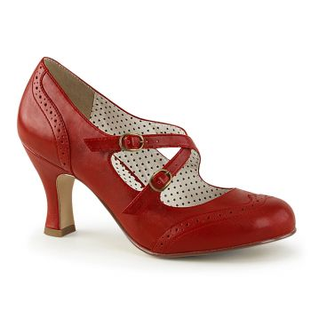 Kitten Heels FLAPPER-35 - Red