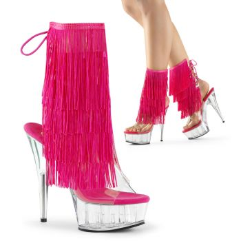 Fringe Sandals DELIGHT-1017TF - Fuchsia