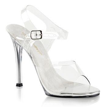 High-Heeled Sandal GALA-08 - White/Clear