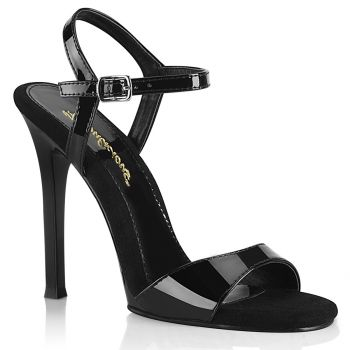 High-Heeled Sandal GALA-09 - Patent Black