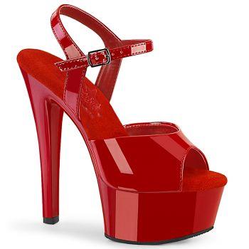 Platform High Heels GLEAM-609 - Patent Red