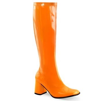 Retro Boots GOGO-300UV - Neon Patent orange