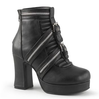 Gothic Ankle Boots  GOTHIKA-50 - Black