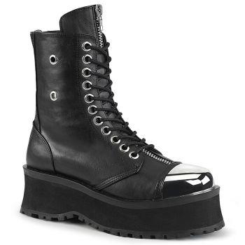 Platform Ankle Boots GRAVEDIGGER-10 - Black