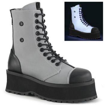 Platform Ankle Boots GRAVEDIGGER-10 - Grey