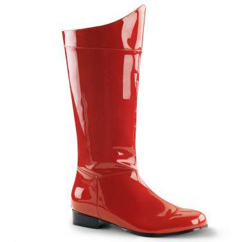 Men Boots HERO-100 - Red Patent