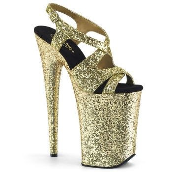 Extreme Platform Heels INFINITY-930LG - Glitter Golden