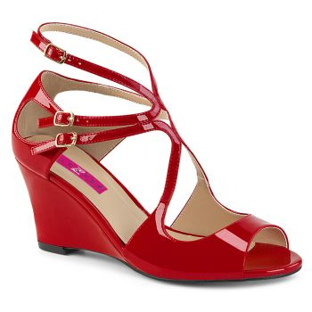 Wedges KIMBERLY-04 - Patent Red