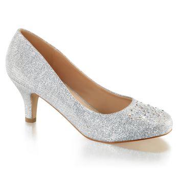 Kitten Heels DORIS-06 - Glitter Silver