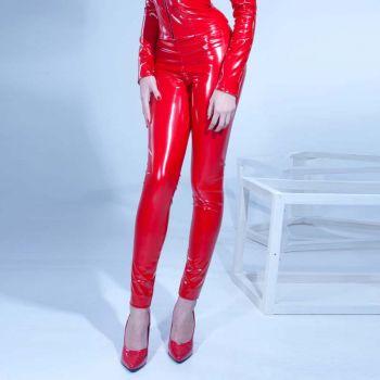 VERA Vinyl Leggings - Red*