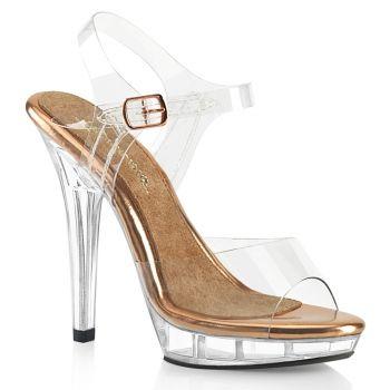 Sandal LIP-108 - Clear/Rose Gold