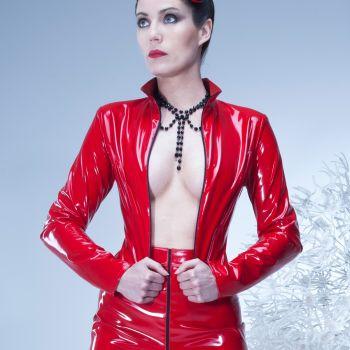 LIVINIA Vinyl Jacket - Red