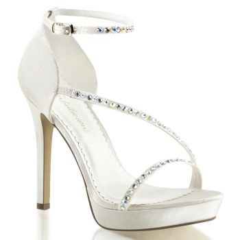 High-Heeled Sandal LUMINA-26 - Satin Ivory