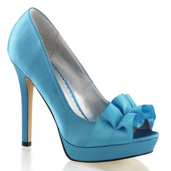 Platform Peep Toes LUMINA-42 - Blue