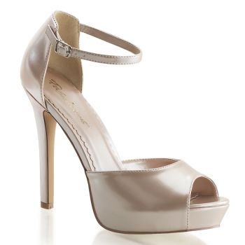 High-Heeled Sandal LUMINA-45 - Champagne*