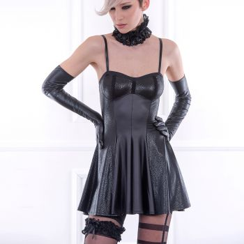 Wet Look Strap Dress MADDINGTON