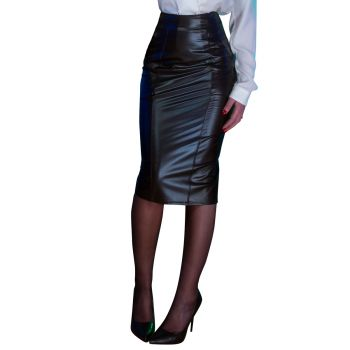 Wetlook Skirt MELANIE - Black