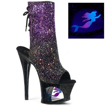 Platform ankle boots MOON-1018MER - Purple/Black