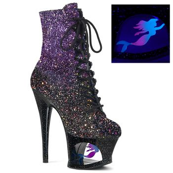 Platform ankle boots MOON-1020MER - Purple/Black
