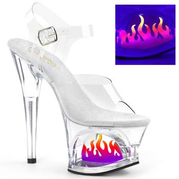 Platform High Heels MOON-708FLM - Clear