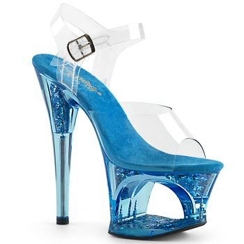 Platform High-Heeled Sandal MOON-708GFT - Blue