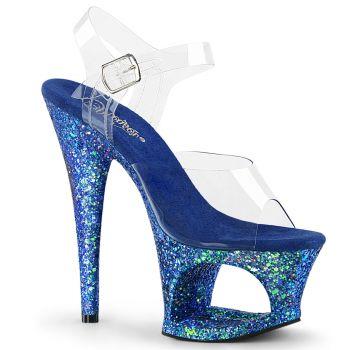 Platform High Heels MOON-708LG - Blue