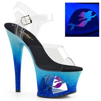 Platform High Heels MOON-708MER - Blue