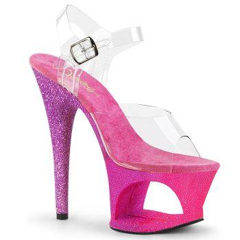 Platform High Heels MOON-708OMBRE - Pink/Lavender