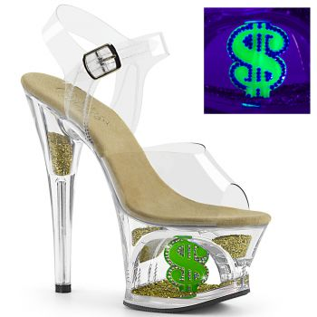 Platform High-Heeled Sandal MOON-708USD - Clear/Green