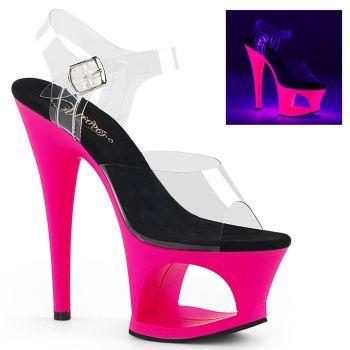 Platform High Heels MOON-708UV - Neon Pink