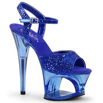 Platform High Heels MOON-710GT - Blue