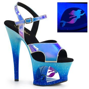 Platform High Heels MOON-711MER - Blue