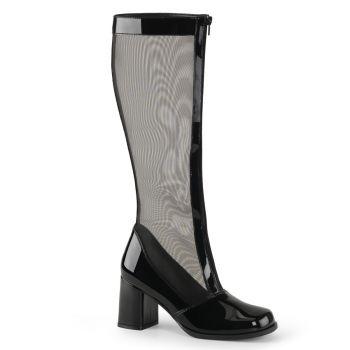 Mesh Boots GOGO-307 - Patent black